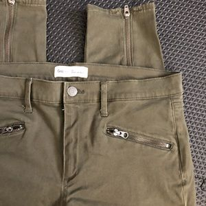 GAP True Skinny Army Green Jeans